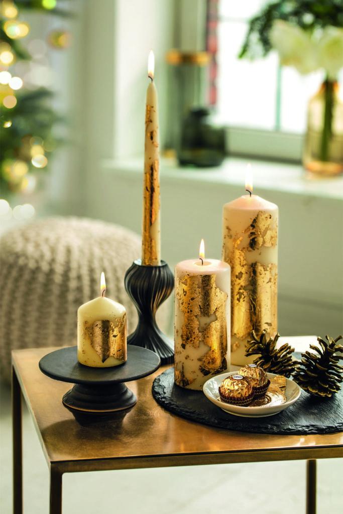 adventske zlatne svije e ferrero ferrero. Black Bedroom Furniture Sets. Home Design Ideas